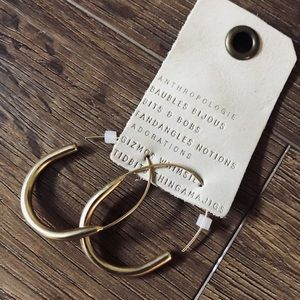 ANTHROPOLOGIE-NWT Gold Hoop Earrings
